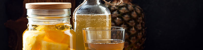 Healthy pineapple fermented beverage